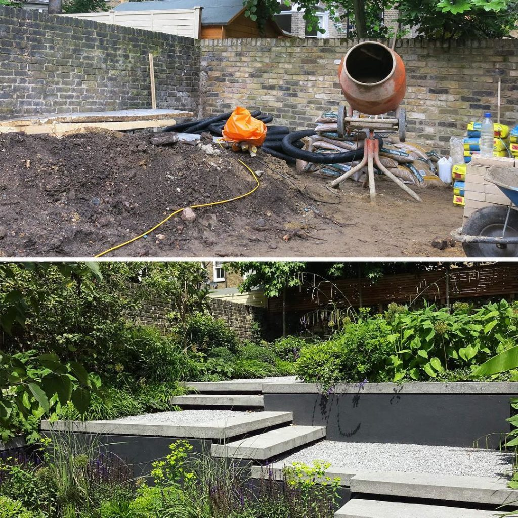 #beforeandafter a bit of a #transformation #levelchange #towngarden #polishedcon...