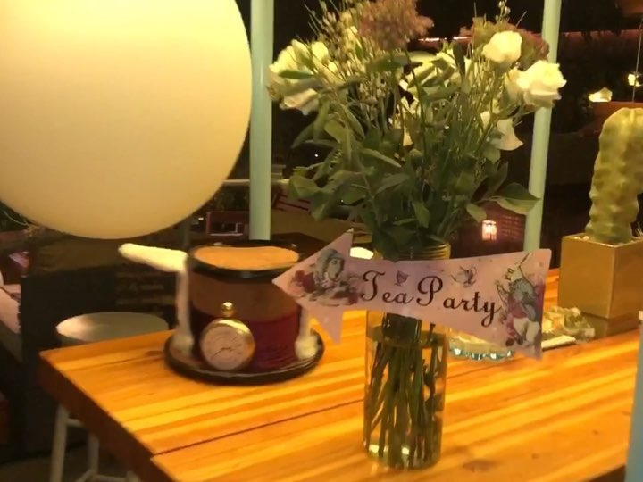 That magical March night the Horticult Garden hosted a Mad Hatter Tea Party   #a...