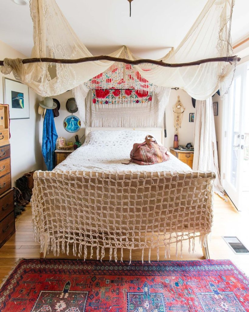 Here's to a magical long weekendThe ethereal bedroom of @honeywoodvintage was fe...