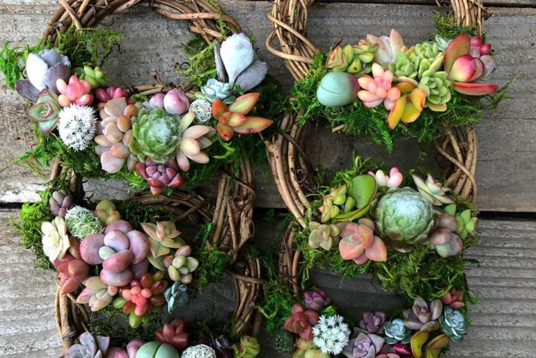 A couple of Pixie Wreaths getting ready to ship. ...