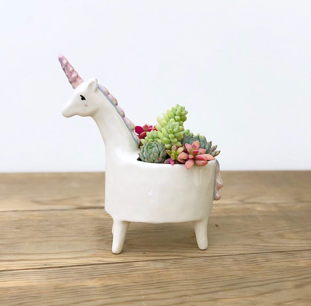 Add some magic to your space with our Unicorn planter!...