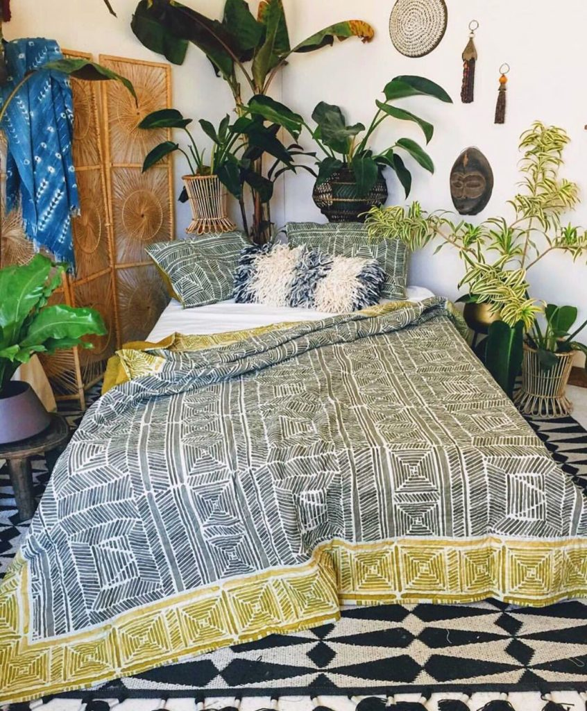 Our Pinta Quilt is designed by @justinablakeney and features hand drawn brushstr...