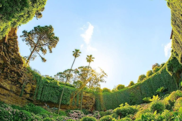 Australia's Umpherston Sinkhole is not just any sinkhole: it's a sunken garden. ...