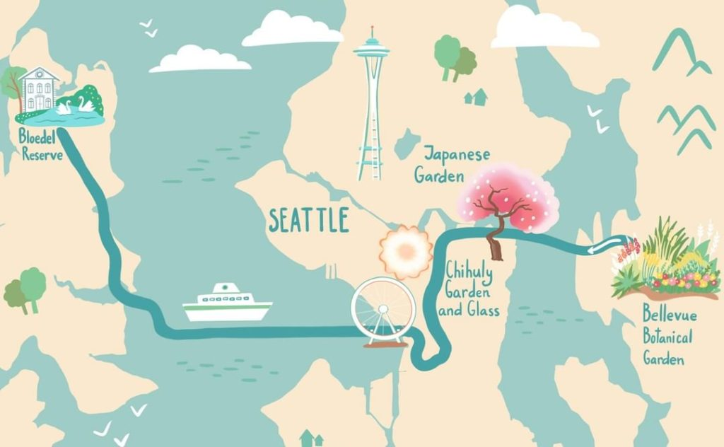Our new self-guided tour of Greater Seattle explores the beauty of the city, inc...
