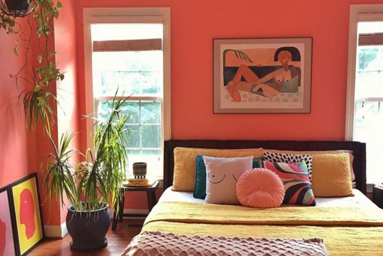 A perfectly peachy nap spot from @designaddictmom featuring our Nude Beach at Su...