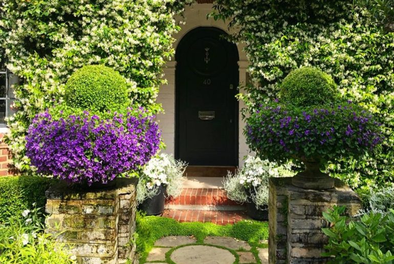 Utterly charming entrance to a house in Chelsea where you could be in the countr...