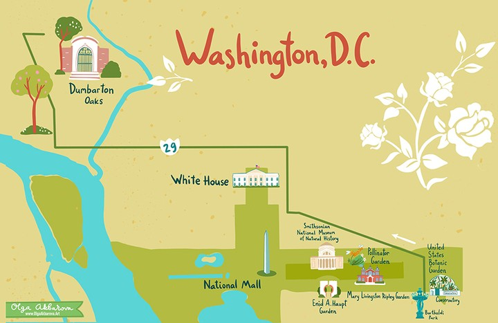 Traveling to Washington DC and love #gardens? Bookmark our new guide to explore ...