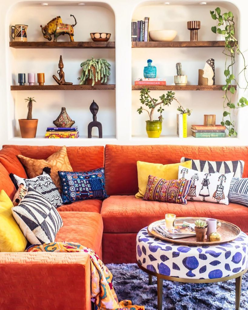 What's your throw pillow vibe? 1.) More is more 2.)Less is more A.) Matchy-Match...