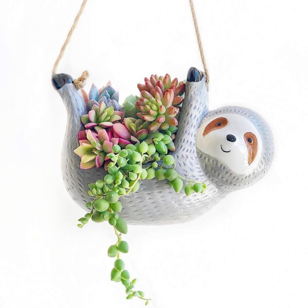 Sloth hanging planter now in stock!...