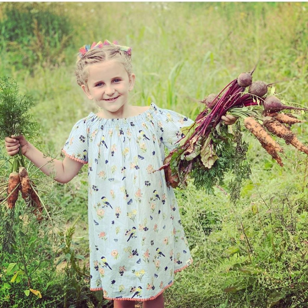 When did your love of gardening start? . This is my cousin Hadley in England, sh...