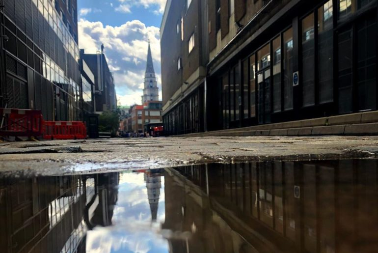 I haven't been to the East End for a while and I haven't taken a puddle pic for ...
