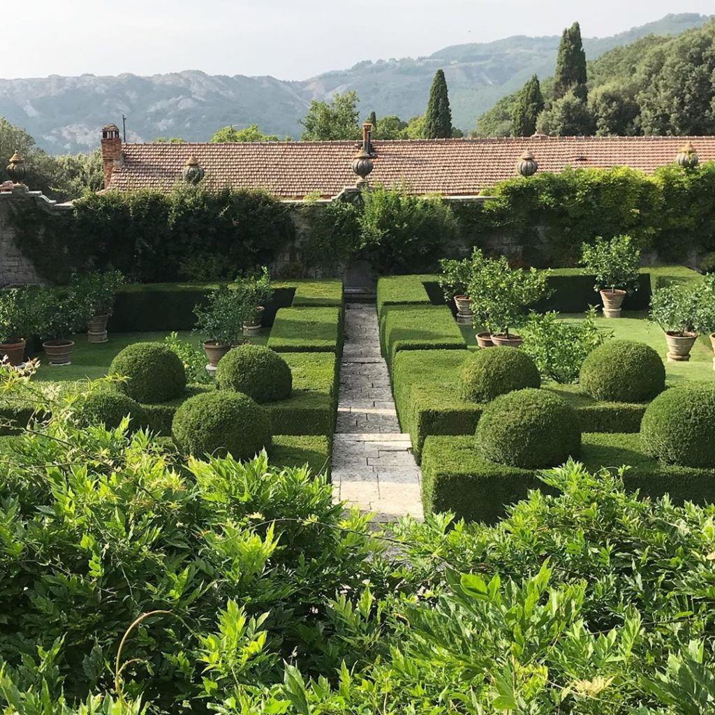 Levels, lemons & landscape... #cecilpinsent 's use of steps and hedges across th...