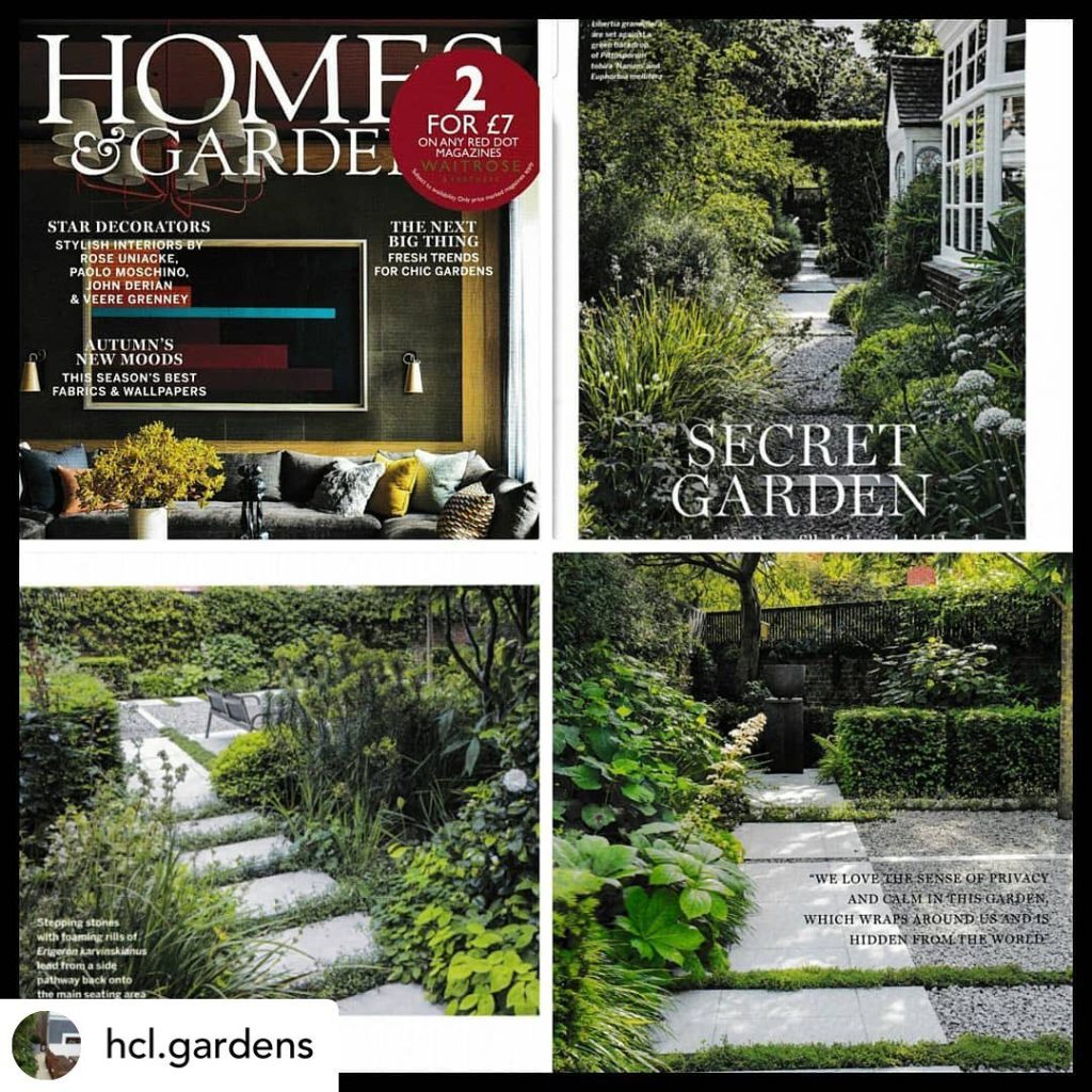 Sharing this post by @hcl.gardens showing @homesandgardensuk feature of our #gar...