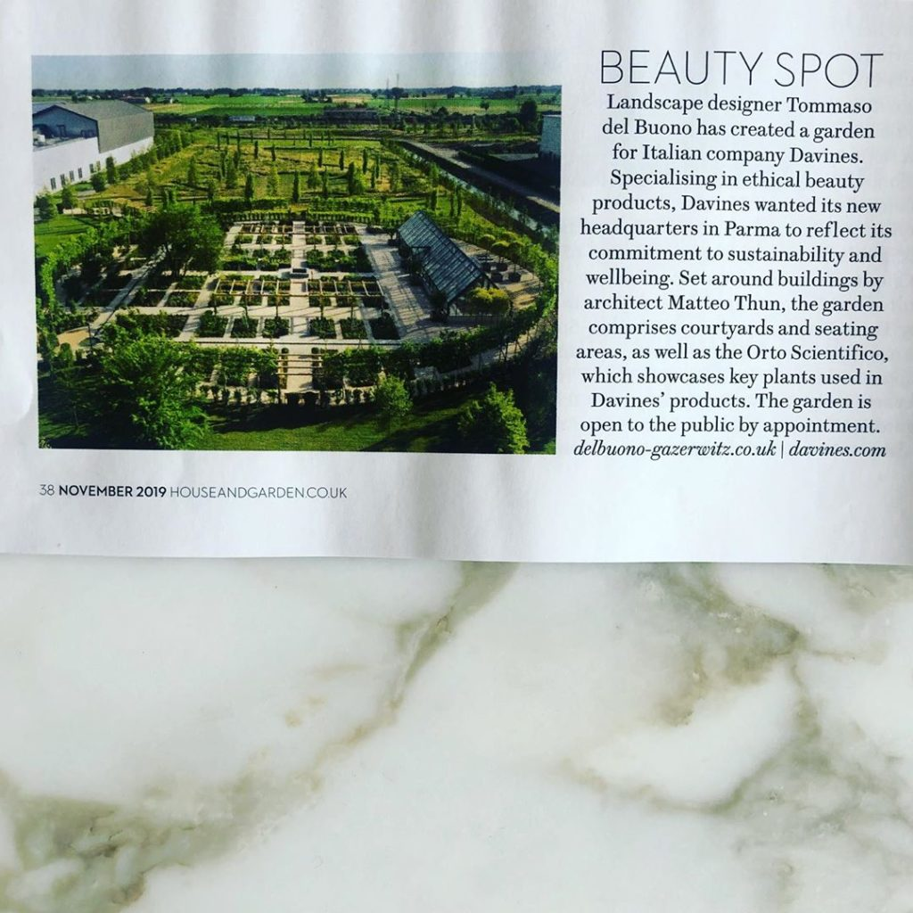 Thank you @clarefostergardens & @houseandgardenuk for the news item in the curre...