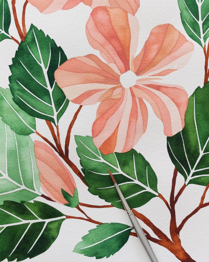 I've been totally MIA but I'm back! Hibiscus #wip. Still working out the pistil....