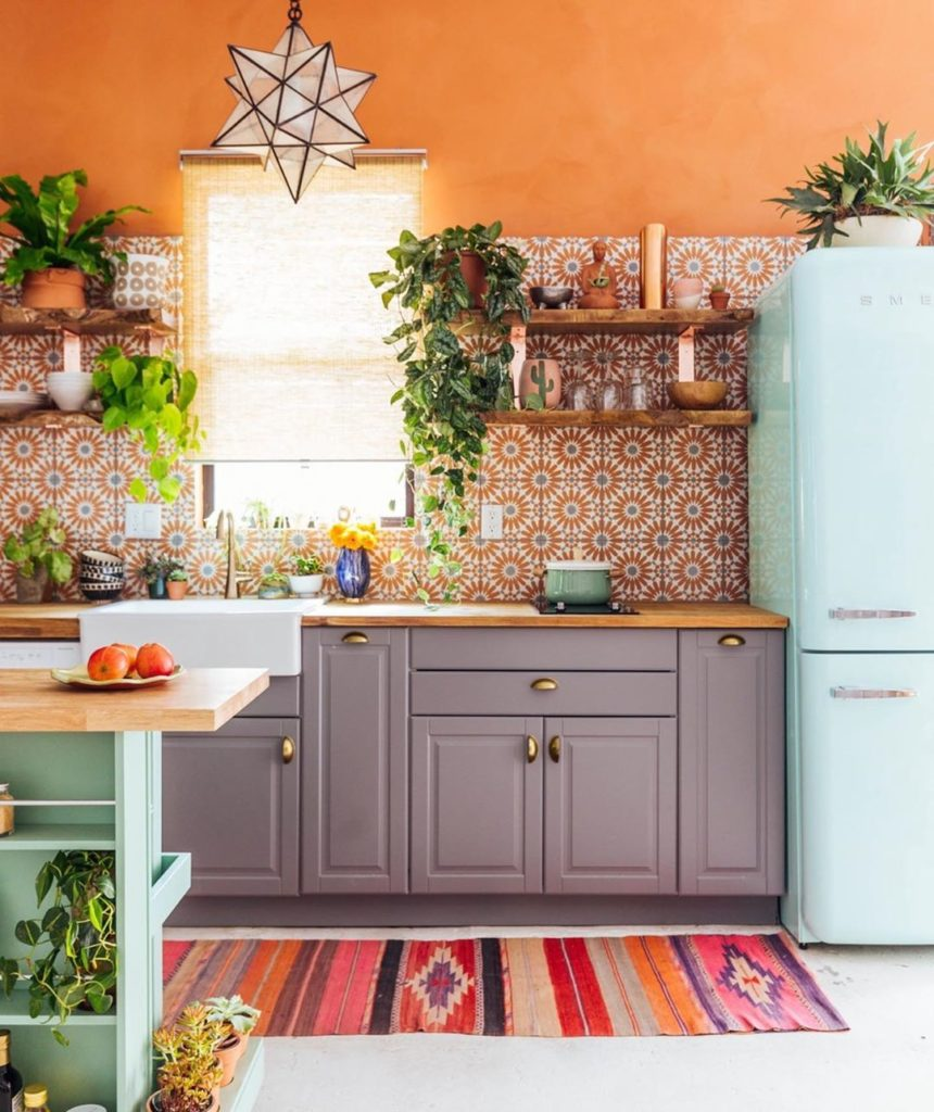 Which one of our kitchen designs is your favorite?  1.) Terra-cotta minty wonder...