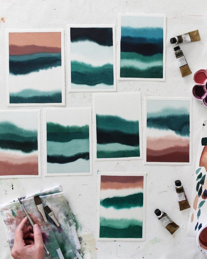 Lots of Amazonite greens, dusty rose to peach and sea foam today! Recalling imag...