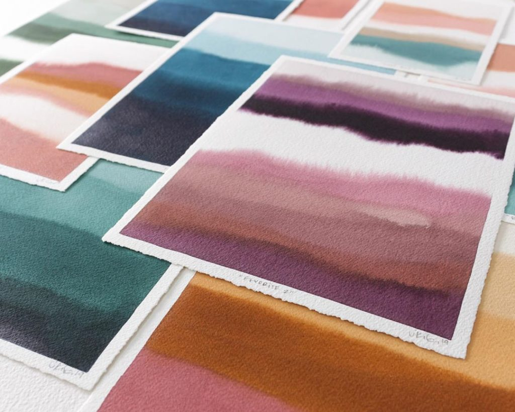 Shop update of color field original watercolors tomorrow, Sunday October 13th @ ...
