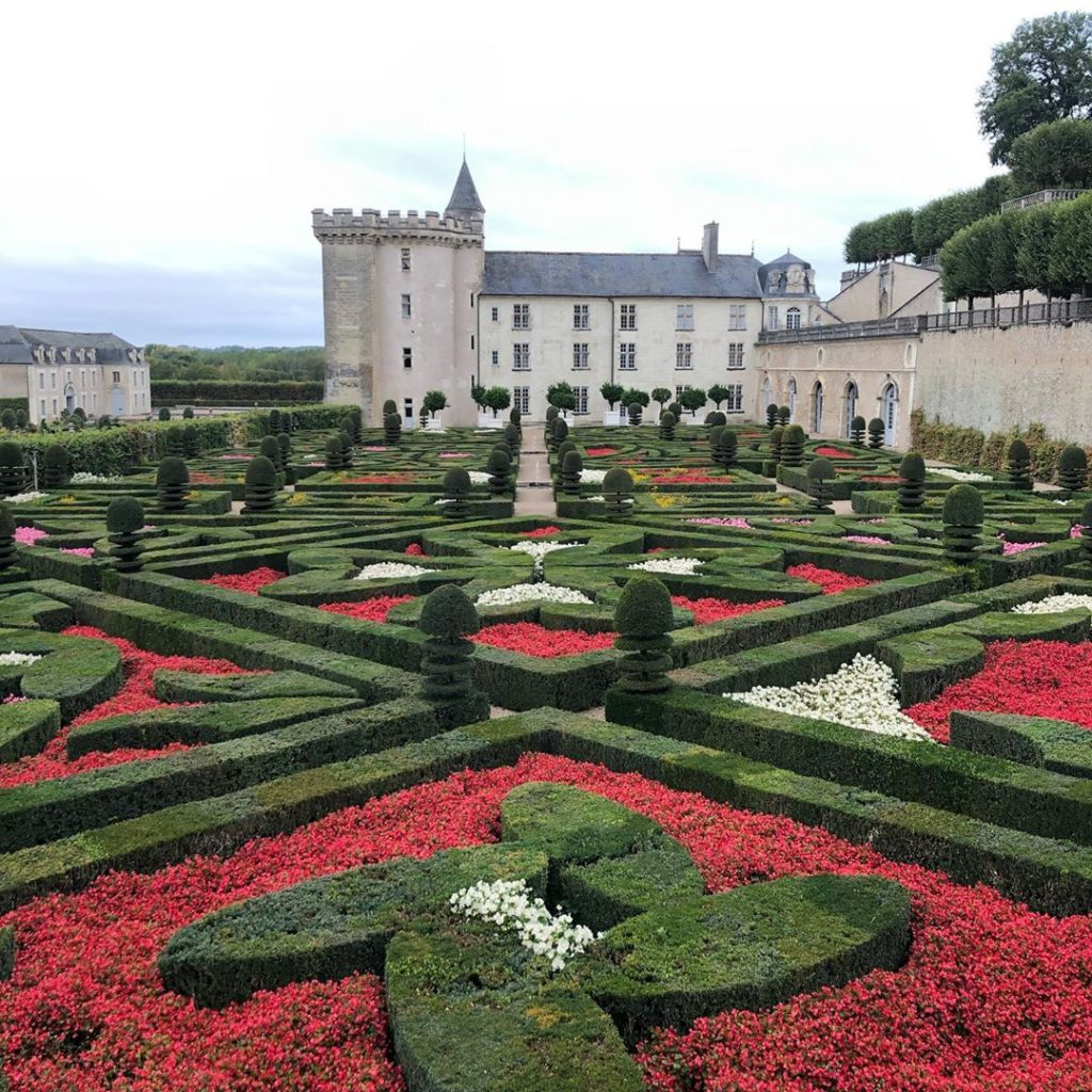 Looking back at the @chateaudevillandry from up high. . #france #garden #travel...