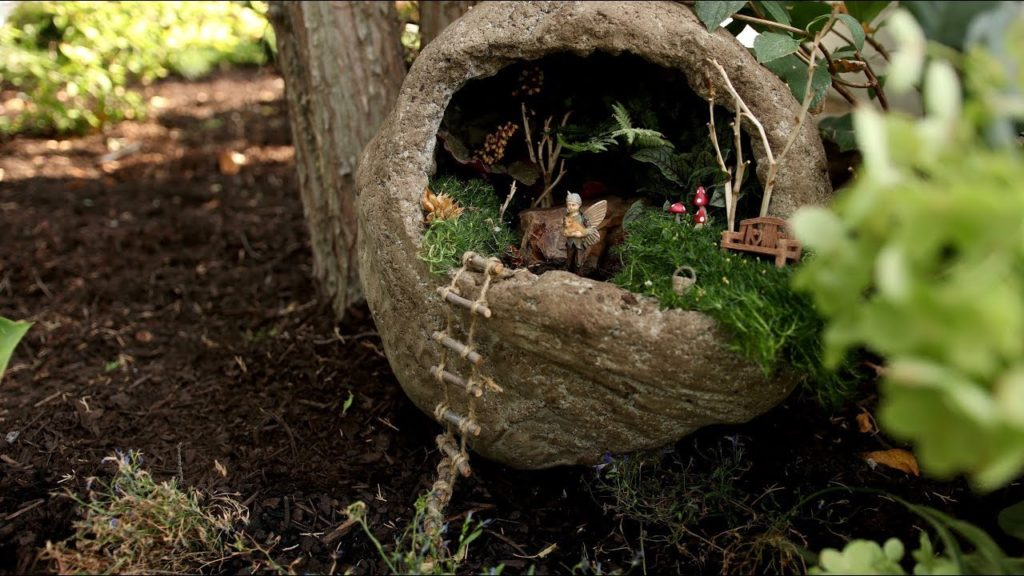 Hypertufa Fail Turned Fairy Garden