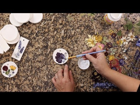 DIY Clay Ornaments with Pressed Flowers