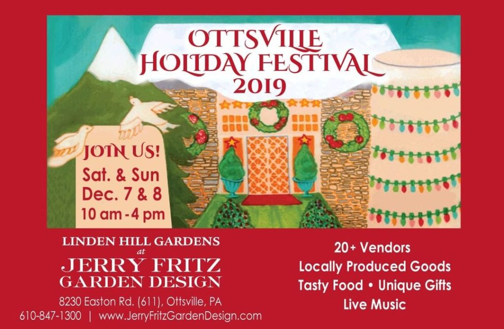 It's that time of year again! December 7 & 8 in Ottsville, PA at  Linden Hill Ga...