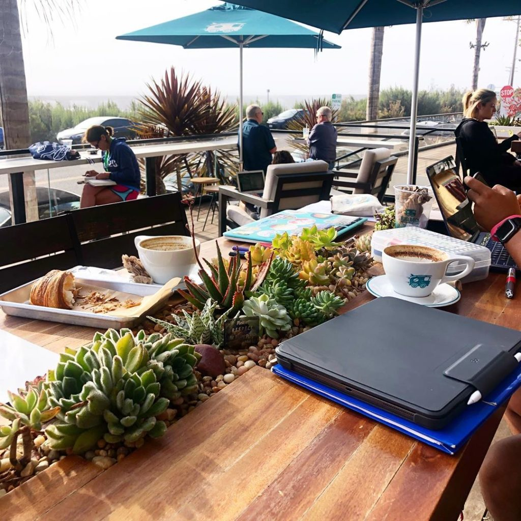 Snoopin' on the living tables I made for @birdrockcoffeeroasters at Torrey Pines...