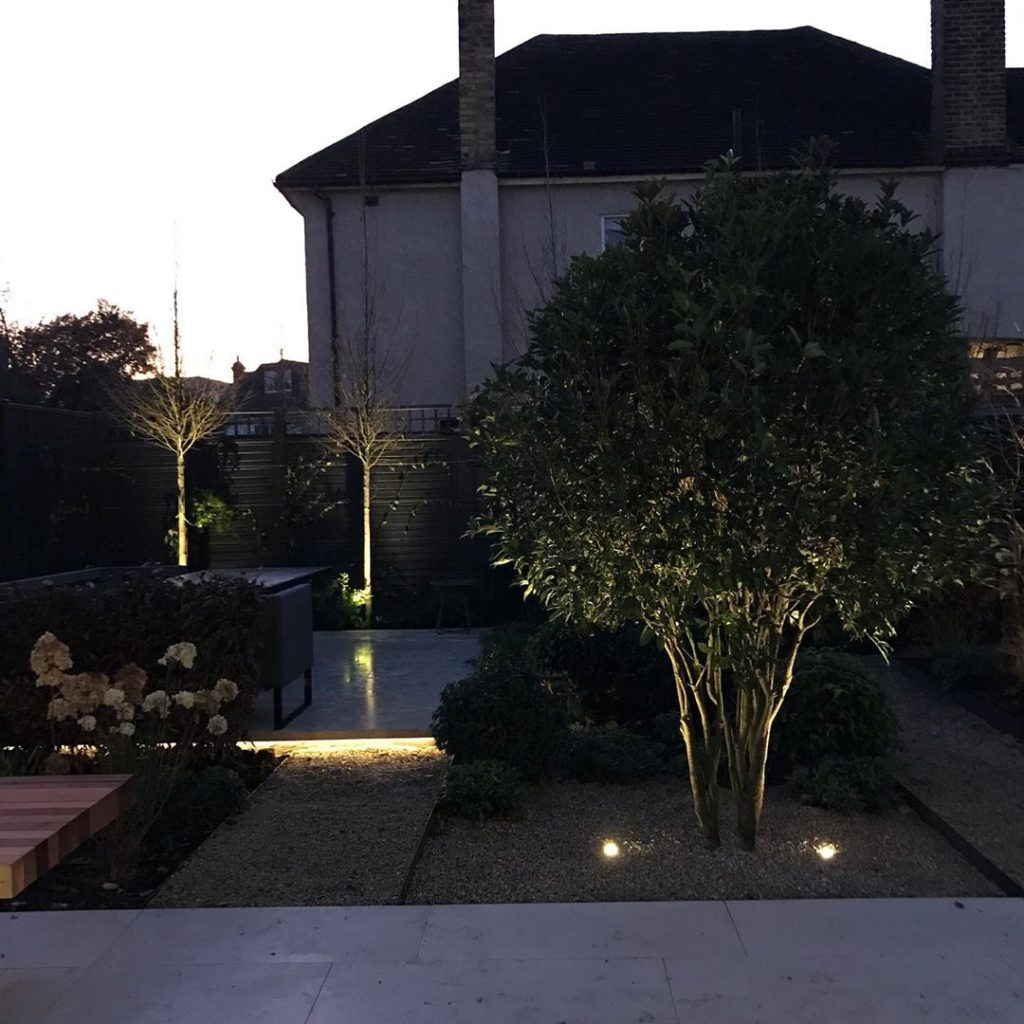 New #garden being signed off. #gardenlighting commissioned and lovely #osmanthus...
