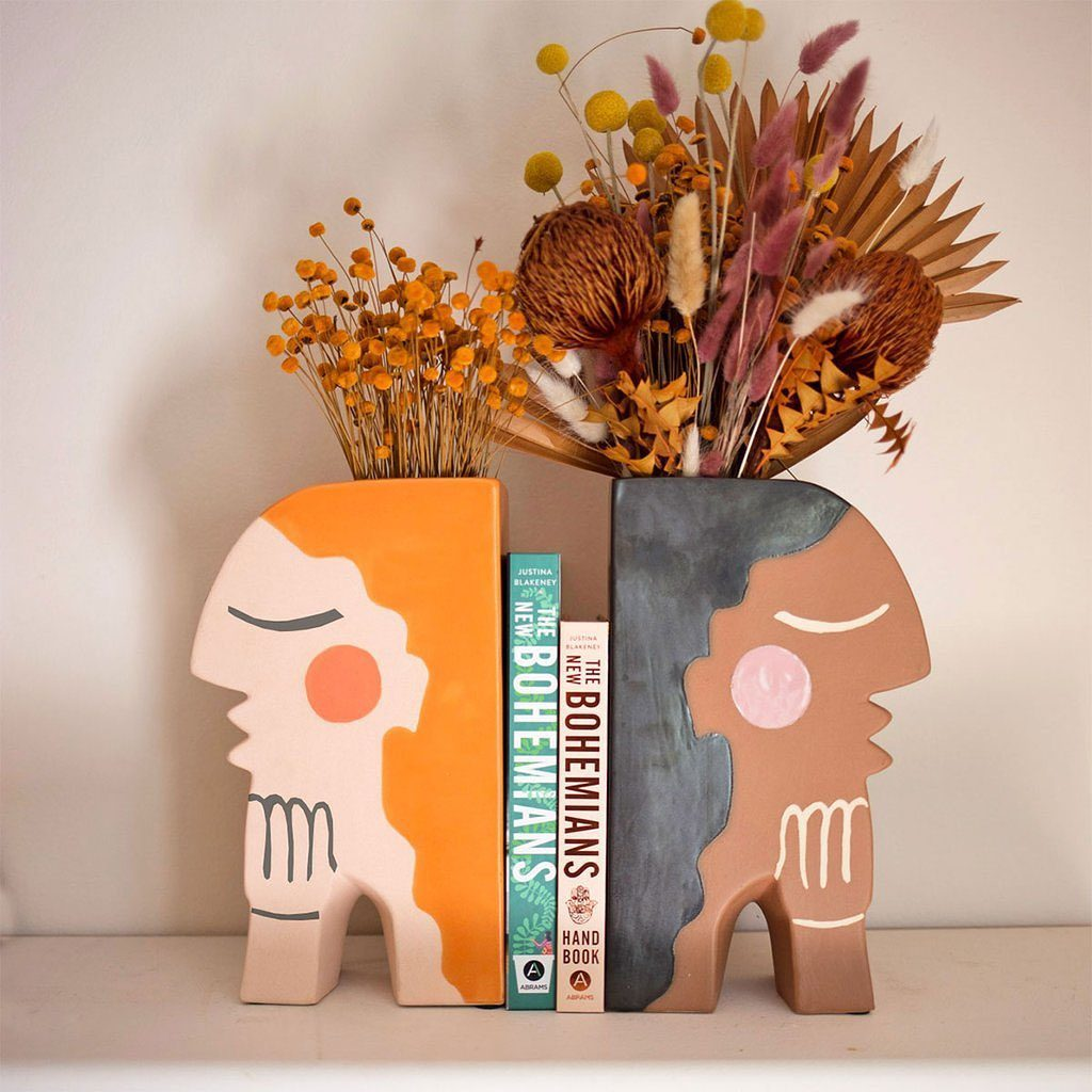 Introducing our new Face Vase/Bookends, designed by @justinablakeney exclusively...