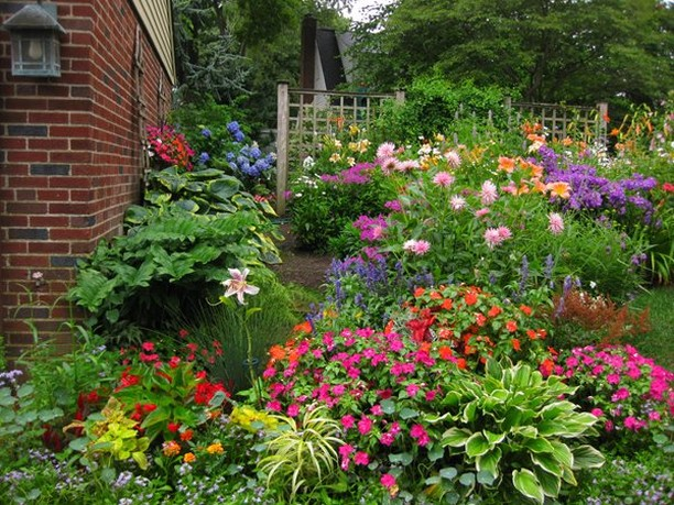 Now this is a flower garden! . Photo by Joyce A Hannaford . . #flowergarden #gar...