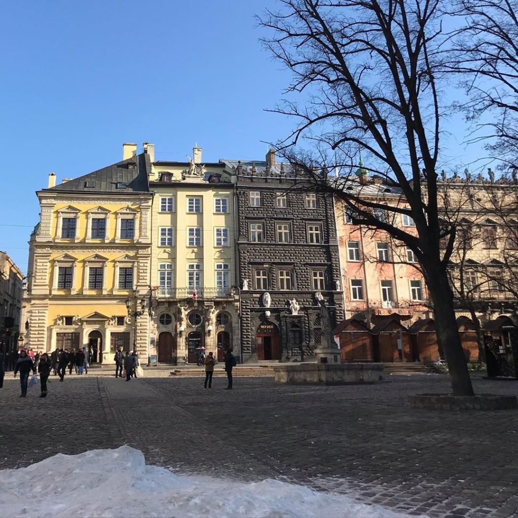 16th and 17th houses on #rynoksquare in the old centre of #lviv including the Bl...