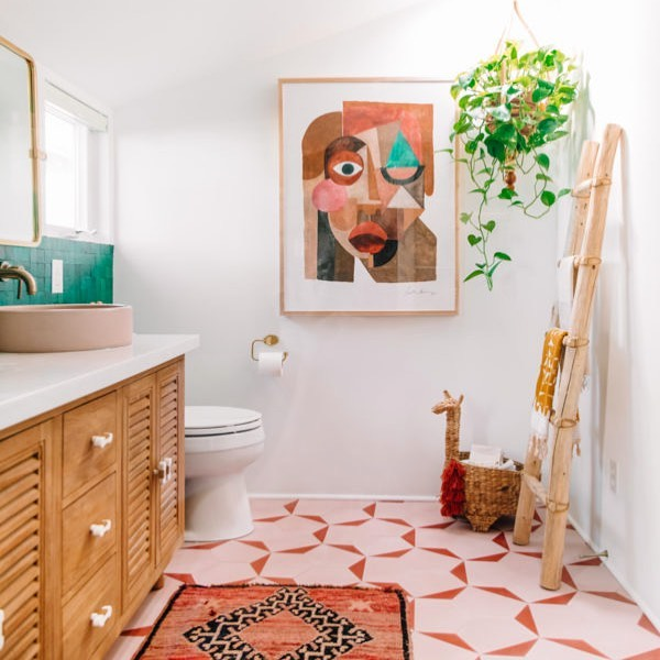 Just wishing we could chill in @studiodiy's master bathroom all day #jungalow...