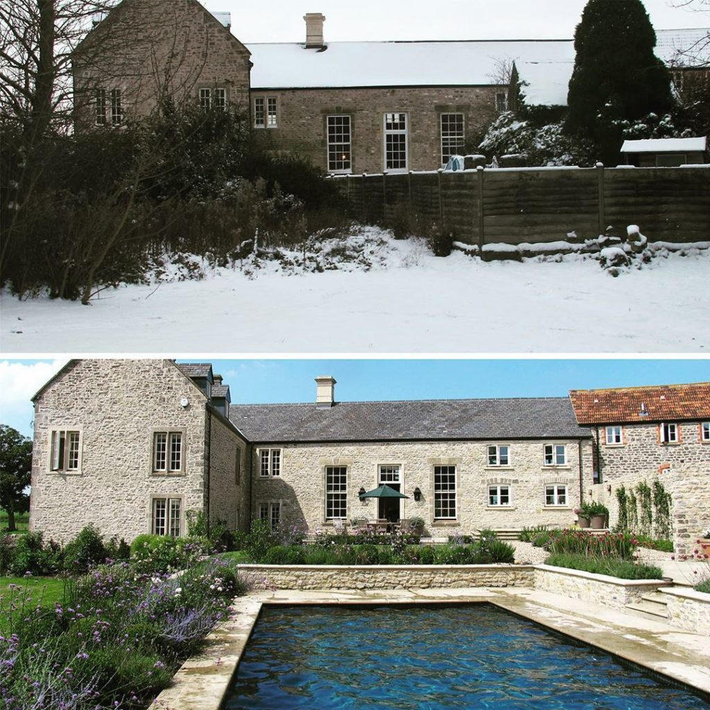#beforeandafter #wintersummer a bit of a #transformation longing for the #summer...