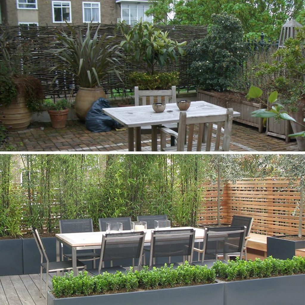 Creating a more appealing #terrace on a #rooftop in #central #london #screening ...