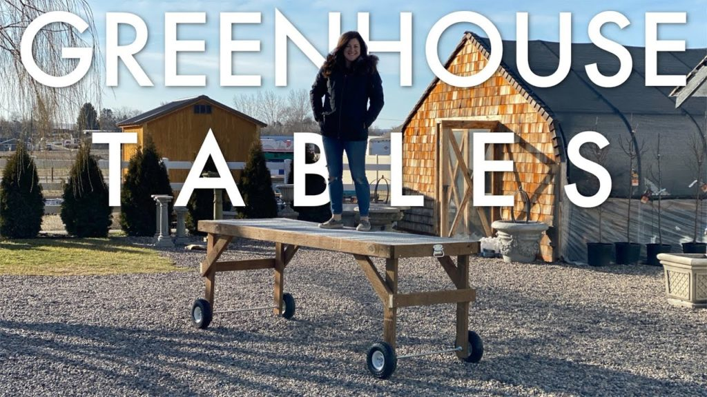 How We Build Our Greenhouse Tables! 🛠🌿💪// Garden Answer