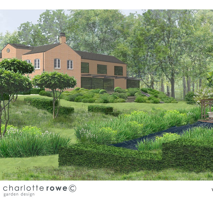 One of #cgi #renders which help clients visualise how their new #garden will loo...