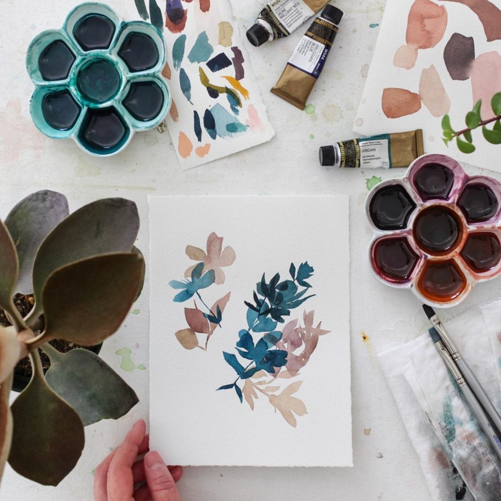 Such a peaceful morning painting with my new plants  I'm creating a new collecti...
