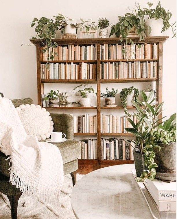 A morning spent with books and plants is a morning well spent. Photo by @thistle...