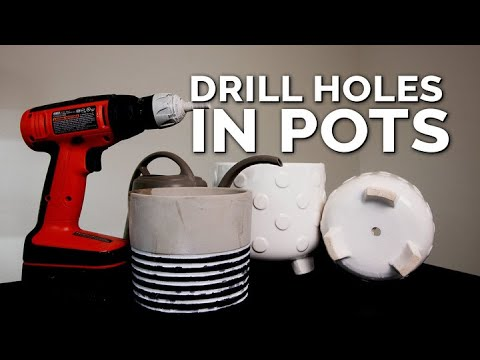 Drill Drainage Holes in Pots WITHOUT Breaking Them! (Foolproof Method)