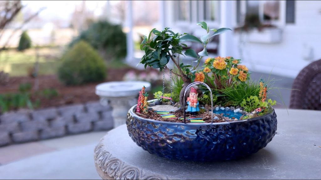 Fun, Colorful Miniature Garden with DIY Pond! 💦🌿🌈// Garden Answer