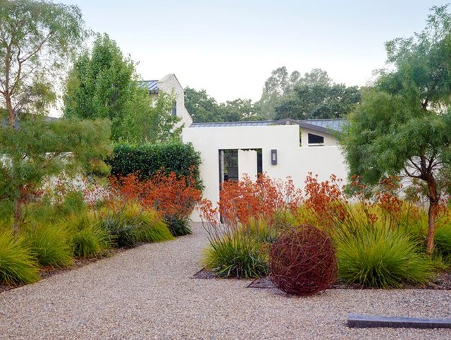 Repurposed is beautiful! . At a garden designed by Mike Lucas in Sonoma, Califor...