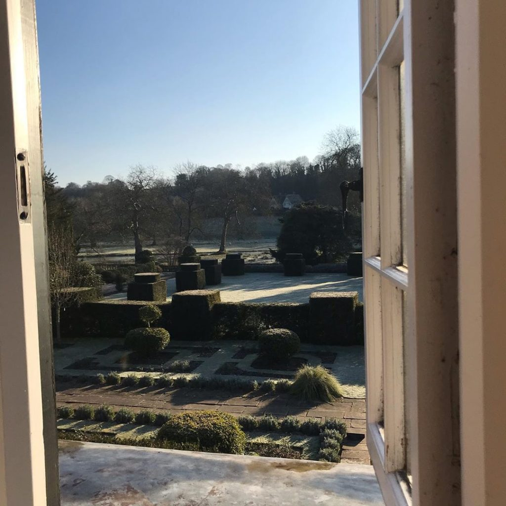 #viewfrommywindow #lightfrost @healegardens #croquetlawn #stayingsafe...