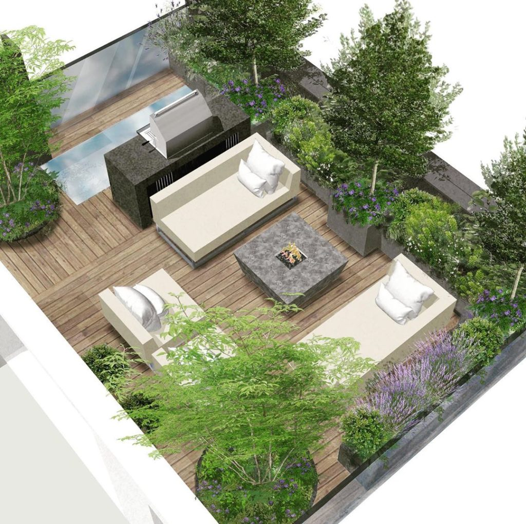 A #cgirender for the #roofterrace we finished late last year- just in time for o...