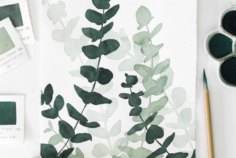 There's something about Eucalyptus that strikes a sense a calm. After painting t...